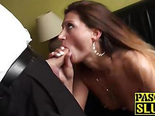 Extremely Horny Brunette Chick  Eva Johnson Gets Fucked Hard