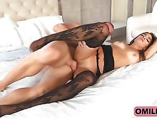 Stunning Milf Accepts Big Cock In Her Tiny Pussy And Ass