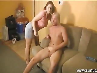 Horny Babe Handjob