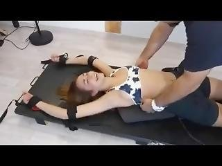 Ticklish French Girl - Tickling
