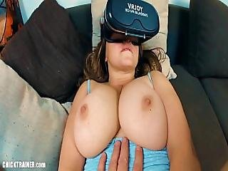 Big-titted Cum Slut Britney Swallows Gets Ass-fucked While Watching Vr Porn. Ass To Mouth Cum Swallowing Large Natural Boobs And Frothy Butt-goo Cleaned Up With A Well Timed Atm Blowjob