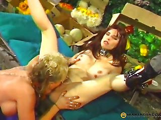 Climbs With His Tongue In Her Curly Cum-hole