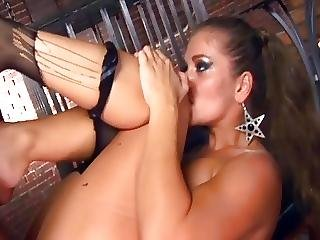 Rita Having Anal Sex In Black Fishnet Stockings
