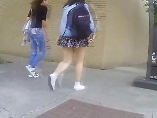 Thick Legs Teen In Short Skirt Uppie Fail. Sang From Dates25.com
