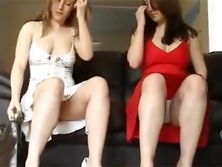 fetiche, lesbianas, falda, arriba falda