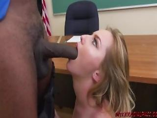 Young Student Britney Light Takes Big Black Cock Of Her Teacher