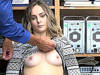 Perky Teen Thief Busted By A Big Dick Security Guard