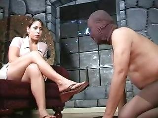 Mistress Aie - Slave Cleaning Shoes And Feet - Femdom