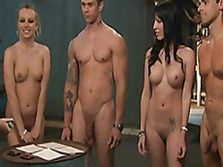 Nasty Sluts Hot Foursome In The Jailcell