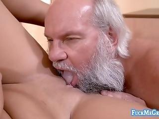 babe, vakker, brunette, knulling, bestefar, pornostjerne, stygg, ung