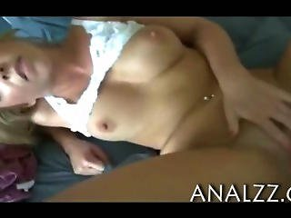 Horny Blonde Girlfriend First Time Anal Action While Being Filmed