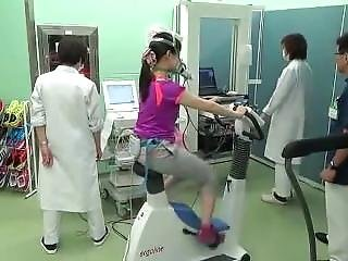 Japanese Girl Bike Ekg Test