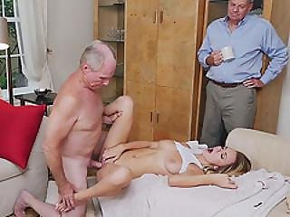 Blonde Teen Molly Mae Fucked By Old Man And She Loves It