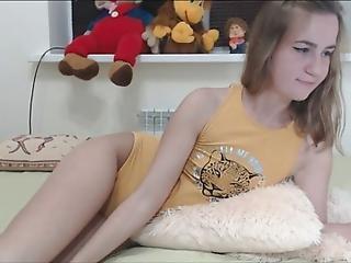 adorable, brunette, zoom, fou, mignonne, doigtage, nique, chapeau, à la maison, tourné à la maison, sale, vieux, petite, chatte, maigre, solo, Ados, étroite, chatte étroite, jouets, webcam