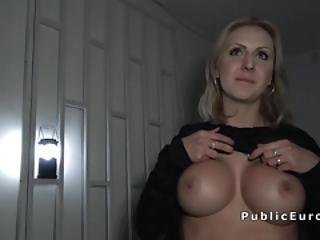Big Tits Blonde Banged In Some Basement