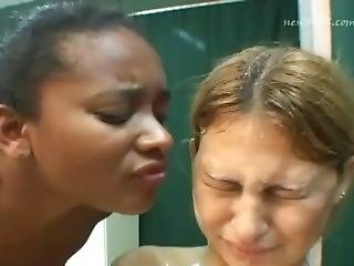 brasiliansk, ydmykelse, grovt, sex, spytt, Tenåring