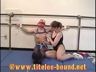 bondage, fetish, lesbisk, wrestling