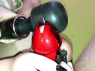 Insanely Long Teasing With Strong Vibrations From Magic Wand - Chastity 4k