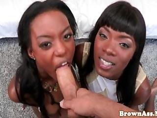 African Beauties Share Cock And Balls