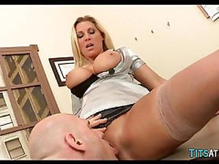 Blonde Cougar Has Huge Tits
