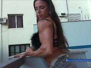 Fbb Showing Off Her Muscled Body 1