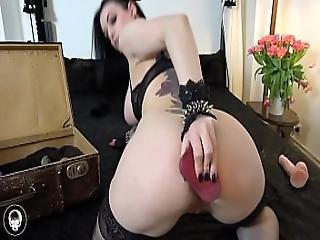 dildo, got, masturbacja