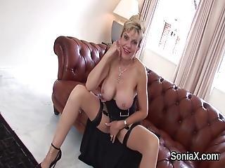 blond, bryst, britisk, fetish, matur, meloner