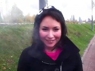 amateur, chick, pijp, brunette, russisch