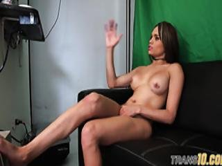 Interviewed Tranny Shows Off Her Amazing Body