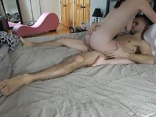Hot Wife Riding Hubby With Hot Creampie