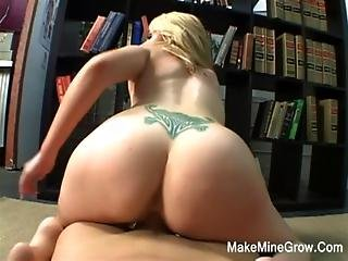 Hot Blonde Have A Goo Fucked In The Library
