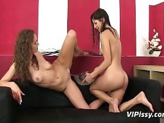 Hot Girlfriends Shower In Their Piss