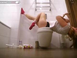 Crazy Play Of Sexy Teen In Restroom