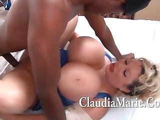 Teen Black Stud With  Inch Cock Fucks Saggy Tits Claudia Marie
