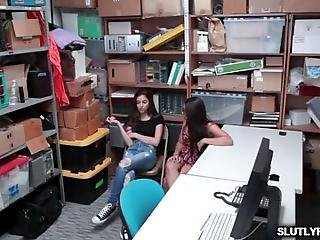 Teen Shoplifters Arielle Faye And Jasmine Summers Shares The Lp Officers Cock They Gave Him A Blowjob And Both Are Instructed To Bend Over Their Asses On The Desk And The Lp Officer Alternately Fuck Their Pussies In A Doggystyle Position