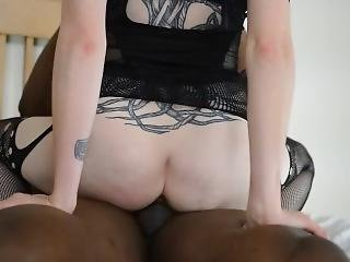Hotwife Bouncing On Black Pole