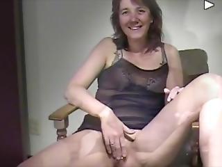 amateur, lingerie, masturbación, milf, solo