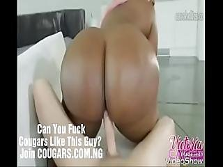 Interracial Big Booty Cougar Victoria Cakes Fucked