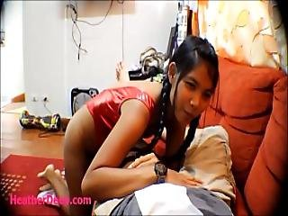 Asiático, Blowjob, Enciente, Adolescente, Thai