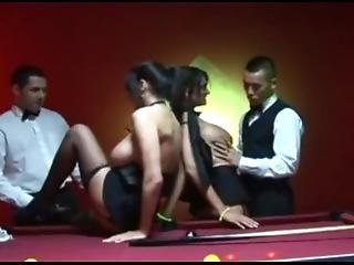 Michelle Thorne And Her Horny Friends Have Sex On The Pool Table...