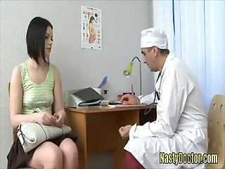 Old Doctor Fucks The Ass Of A Cute Teen Patient Before Making Her Suck His Dong