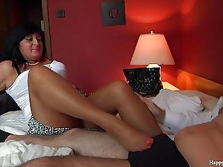 George And His Friends Mom Taboo Session Footjob Handjob