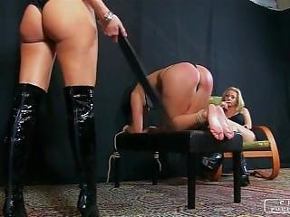 Lesbian femdom spanking and whipping movies