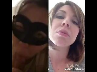Jerk Off To This Knowing The Pic On The Right Is The Girl In The Mask! Mmm
