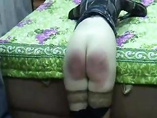 Russian Bitch Punished & Abused With Wooden Paddle