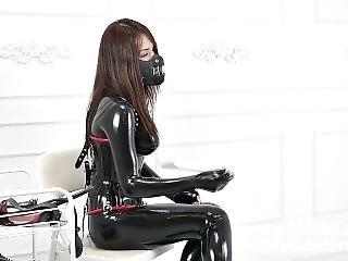Latex Catsuit Mistress Femdom The Heavey Rubber Salve Blowjob Fx-tube Com
