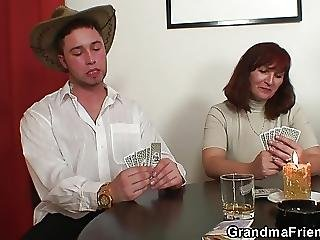Poker Playing Granny Double Drilled After Game