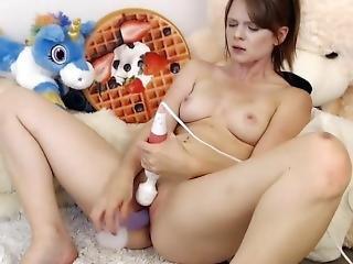Redhead Teen Slut Fucks Her Pussy And Cums