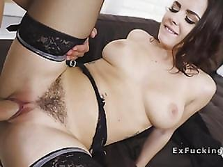 Busty Hairy Cunt Gf Banged Before Work