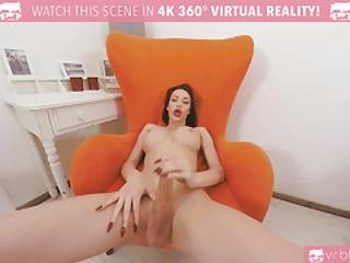 Vrbtrans.com- Hot Busty Babe Kimber Lee Is Masturbating Her Hard Cock Shemale Vr Porn